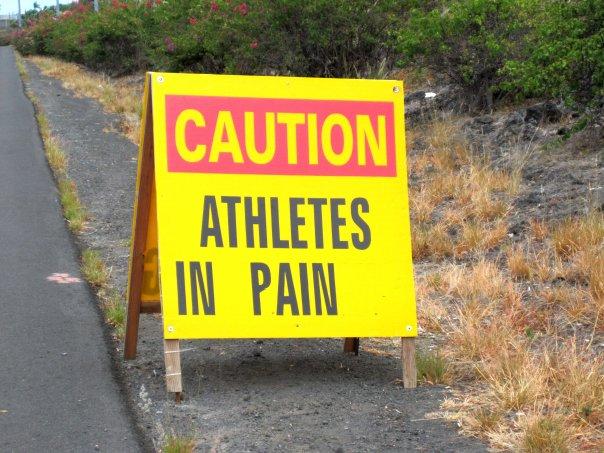 Caution athletes in pain