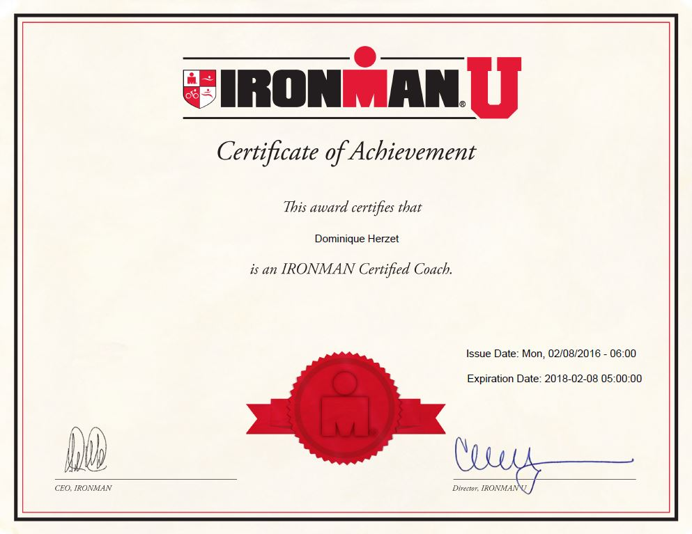 Certificat ironman u