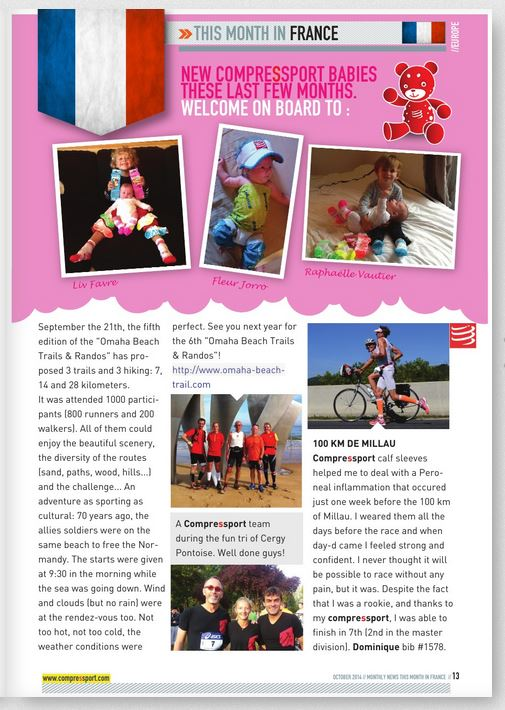 Compressport newsletter oct 2014