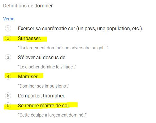Dominer signification